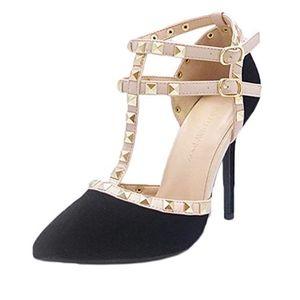 Wild Diva Stiletto High Heels Studded Pumps NWOT